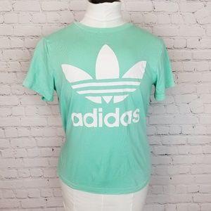Adidas|Mint Green Large Logo Tee